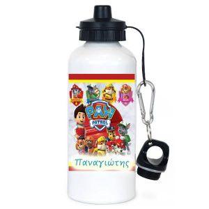 Μεταλλικό μπουκάλι νερού λευκό school sucks