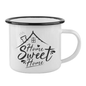 Κούπα μεταλλική Home Sweet Home δίχρωμη χωρητικότητας 12oz