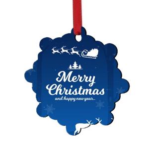 Χριστουγεννιάτικη ξύλινη μπάλα στολίδι για το δέντρο με τη φωτογραφία και το δικό σας μήνυμα