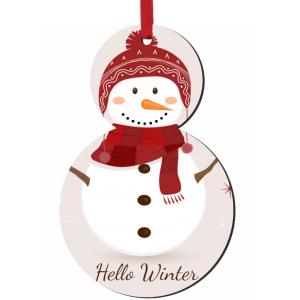 Χριστουγεννιάτικο ξύλινο στολίδι για το δέντρο με τη φωτογραφία και το δικό σας μήνυμα
