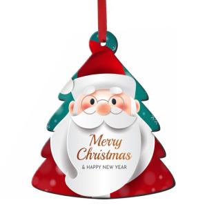 Χριστουγεννιάτικη ξύλινη καμπάνα στολίδι για το δέντρο με τη φωτογραφία και το δικό σας μήνυμα